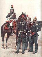 Garde Republicaine et Sapeurs-Pompiers - Grande Tenue by Edouard Detaille (P)