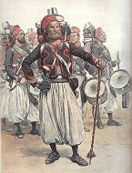 Zouaves - Tambours - Tenue de Campagne by Edouard Detaille (P)