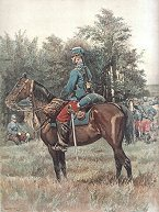 Hussards - Tenue de Campagne by Edouard Detaille (P)