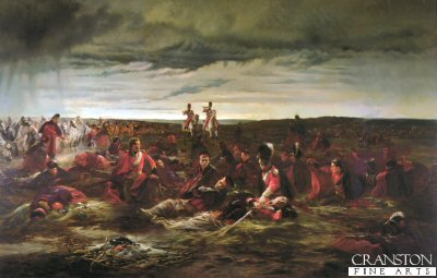 The Dawn of Waterloo by Lady Elizabeth Butler. (Y)