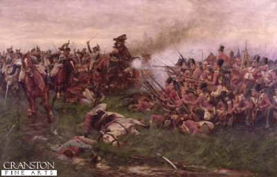 28th Gloucester Regiment at Waterloo by William Barnes Wollen.
