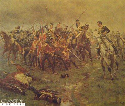Battle of Albuhera by William Barnes Wollen. (Y)