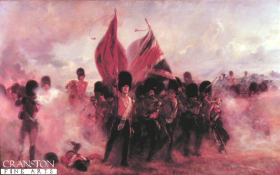 Scots Guards Saving the Colours at Alma by Lady Elizabeth Butler. (XX)