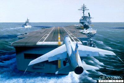 USS America by Ivan Berryman. (Y)