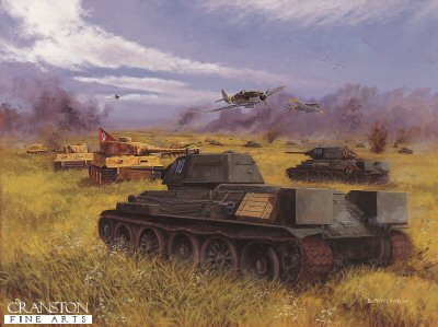 Clash of Steel, Prokhorovka, Kursk, 12th July 1943 by David Pentland. (F)