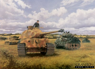 Prepare to Ram, Operation Goodwood, Normandy, 18th July 1944 by David Pentland. (GS)