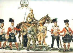 Uniforms of the 71st, 73rd and 74th Regiment by Haswell Miller.