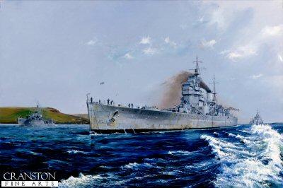 Return the Victor, HMS Duke of York entering Scapa Flow by Randall Wilson (GS)