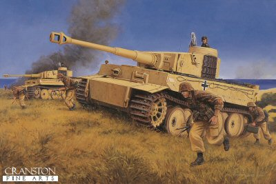 Strike For Gela, Sicily, 11th June 1943 by David Pentland. (E)