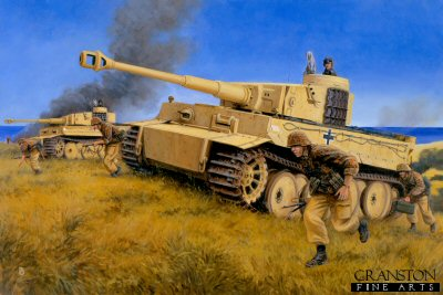 Strike For Gela, Sicily, 11th June 1943 by David Pentland. (GS)