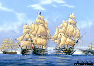 HMS Victory at the Battle of Trafalgar by Graeme Lothian. (PC)