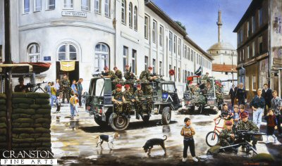 Mobile Patrol in Pristina by David Rowlands.
