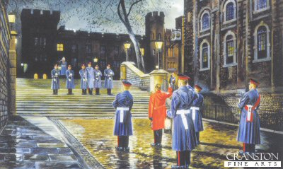 The Ceremony of the Keys, HM Tower of London by David Rowlands.