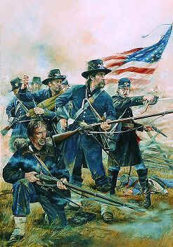 The Iron Brigade, 2nd Wisconsin Volunteer Infantry Regiment, Brawners Farm August 1862 by Chris Collingwood.