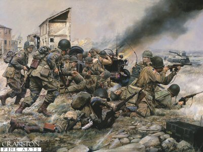 Fighting for a Foothold, 82nd Airborne at St Mere Eglise, 1944 by Chris Collingwood. (PC)