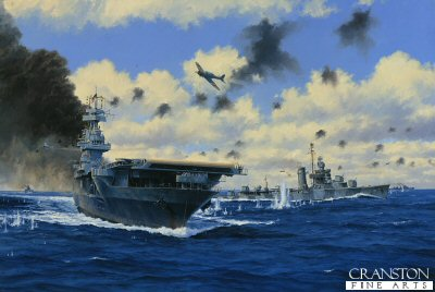 USS Yorktown at the Battle of Midway by Anthony Saunders (GS)