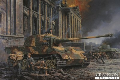Defence of the Reichstag, Berlin, 1st May 1945 by David Pentland.