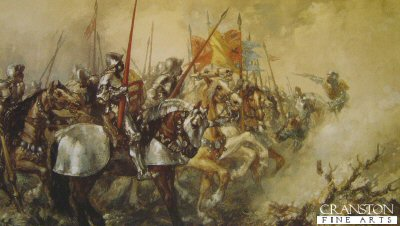 King Henry V at the Battle of Agincourt by Sir John Gilbert. (Y)