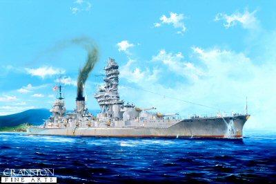 Japanese Battleship Fuso by Randall Wilson.