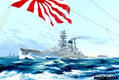 Japanese Battleship Nagato by Randall Wilson.