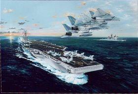 USS John C Stennis by Randall Wilson.
