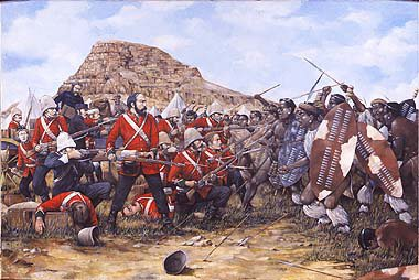 Battle of Isandhlwana, 22nd January 1879 by Brian Palmer. (Y)