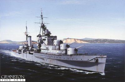 HMS Euryalus by Ivan Berryman.