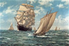 The Homecoming by Montague Dawson.