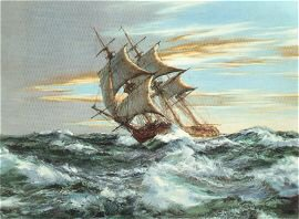 Dawn Chase by Montague Dawson.