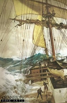 The Rising Wind by Montague Dawson.