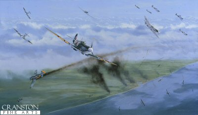 The Battle for the Skies Over Dieppe, 19th August 1942 by Graeme Lothian. (D)