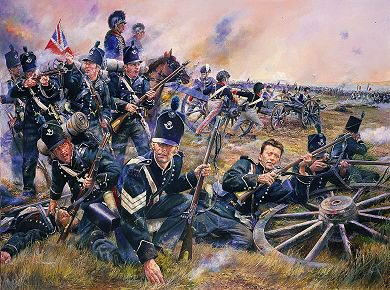 The 95th Rifle Brigade at the Battle of Fuentes De Onoro, 5th May 1811 by Chris Collingwood. (Y)