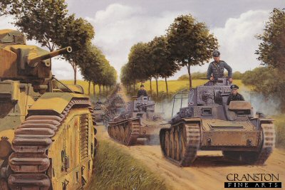 Blitzkrieg, Northern France, May 1940 by David Pentland. (GL)