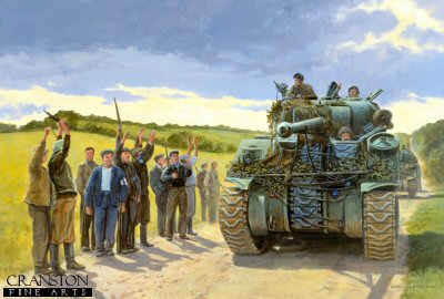 Liberation - Sherman Tanks of the Guards Brigade by David Pentland.