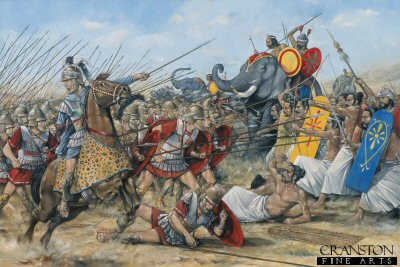 Alexander the Greats Victory at Hydaspes River by Brian Palmer. (Y)