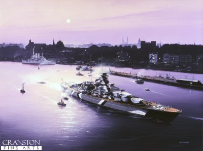 Bismarck at Hamburg by Ivan Berryman.