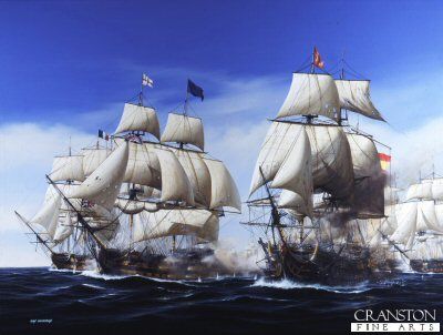 The Battle of Trafalgar - The First Engagement by Ivan Berryman.