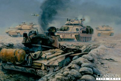 The Battle of 73 Easting, Iraq, 26th February 1991 by David Pentland.
