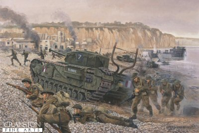 Disaster at Dieppe, France, 19th August 1942 by David Pentland.