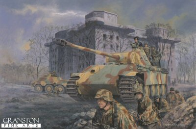 Panther at the Zoo, Tiergarten, berlin, 2nd May 1945 by David Pentland  (PC)