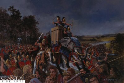 Julius Caesar Crossing the Thames, Summer 54BC by David Pentland. (GS)