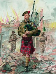 Piper of the 51st Highland Division by Alan Herriot.