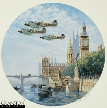 Hurricanes over the Houses of Parliament by John Young. (AP)