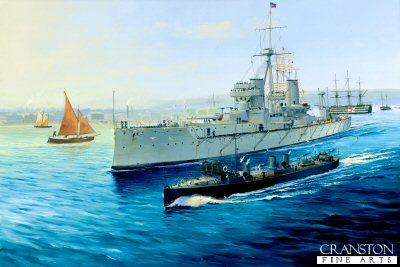 HMS Dreadnought at Portsmouth by Randall Wilson.