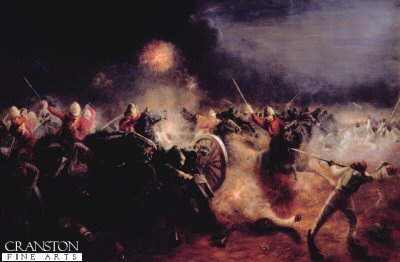 Kassassin Charge of the Household Cavalry by J Richards.