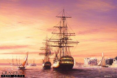 HMS Vanguard at Portsmouth by Ivan Berryman. (PC)