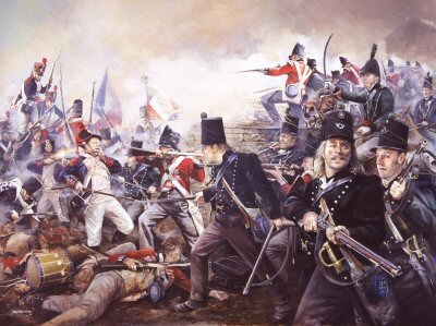 The Defence of La Haye-Sainte, 18th June 1815 by Chris Collingwood.