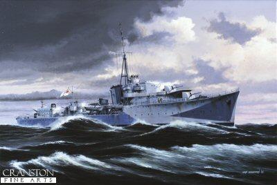 HMS Onslaught by Ivan Berryman (P)