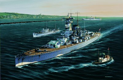 Admiral Graf Spee  enters Montevideo by Ivan Berryman.