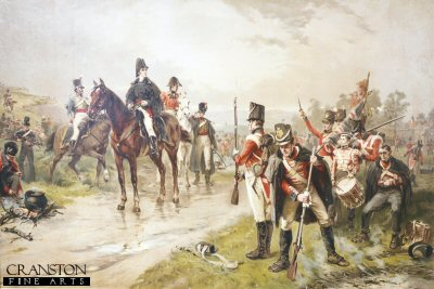 Wellington at Waterloo by Robert Hillingford.